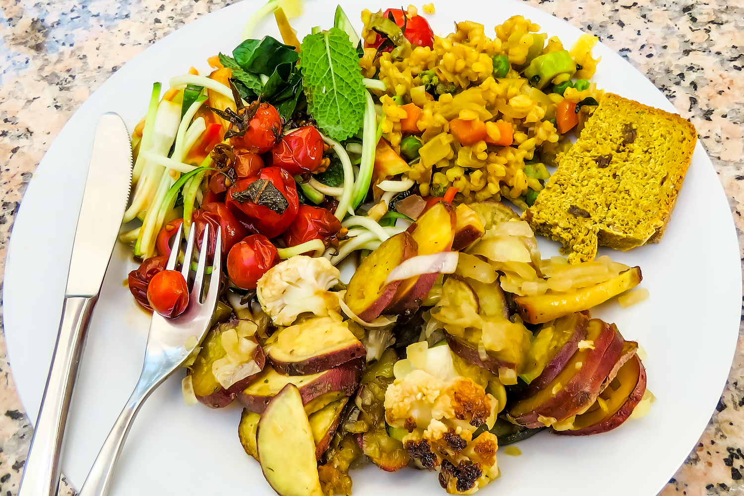 Plate of Vegetarian Food