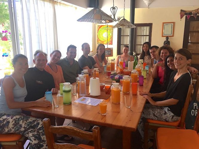 Juice Fasting Group at Table